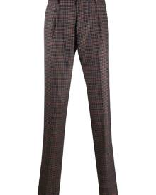 Etro checked trousers - Brown