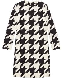 Gucci houndstooth-print dress - White