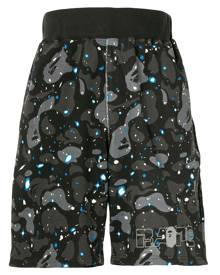 A BATHING APE® Space Camo track shorts - Grey