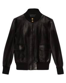 Gucci stand-up collar bomber jacket - Black