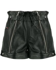 Diesel zipped biker shorts - Black