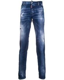 Dsquared2 paint splatter skinny jeans - Blue