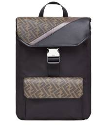 Fendi FF motif backpack - Black