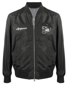 Alexander McQueen floral print bomber jacket - Black