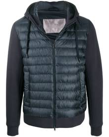 Herno zipped hooded quilted jacket - Blue