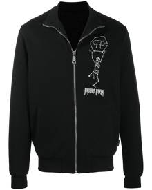 Philipp Plein skeleton print cardigan - Black