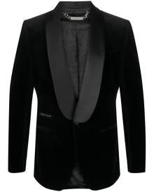Philipp Plein Elegant velvet-effect blazer - Black