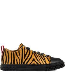 Giuseppe Zanotti Blabber zebra-print sneakers - Brown
