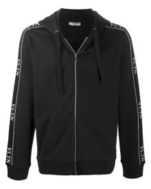 Valentino VLTN zipped hooded jacket - Black