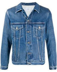 Givenchy logo print buttoned denim jacket - Blue