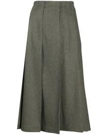 Jil Sander pleated midi skirt - Green