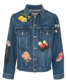 Doublet sushi-print denim jacket - Blue