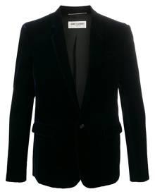 Saint Laurent velvet single button blazer - Blue