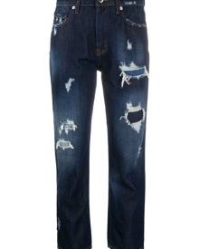 Love Moschino mid-rise cropped jeans - Blue