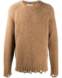 Maison Flaneur distressed knit jumper - Neutrals