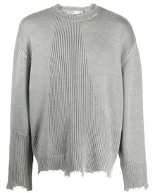 C2h4 ribbed-knit distressed jumper - Grey