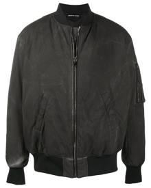 Mauna Kea distressed finish bomber jacket - Black