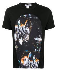 Comme Des Garçons Shirt graphic patchwork print T-shirt - Black