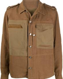 Sease patch-pocket military shirt jacket - Brown