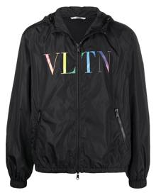Valentino logo-print windbreaker - Black