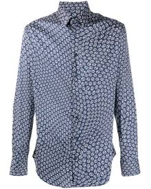 Giorgio Armani all-over logo print shirt - Blue