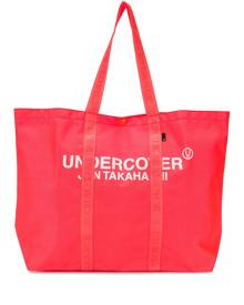 Undercover large logo tote bag - Orange