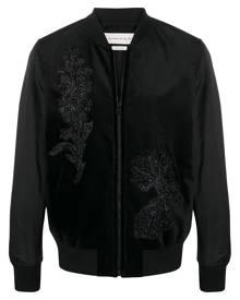 Alexander McQueen sequin-embellished floral bomber - Black