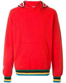 A BATHING APE® stripe-trim fitted hoodie - Red