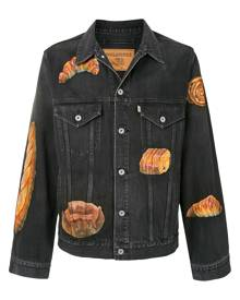 Doublet bread-print denim jacket - Blue