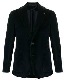 Tagliatore velvet single-breasted blazer - Blue
