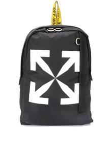 Off-White Arrows logo backpack - Black