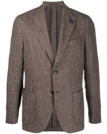 Lardini single breasted tweed blazer - Brown