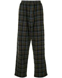 Undercover plaid trousers - Grey
