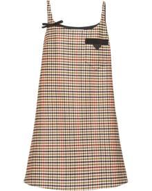 Prada houndstooth-pattern shift dress - Blue