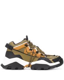 Kenzo mid-top panelled sneakers - Green