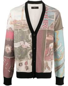 AMIRI patchwork print button-up cardigan - Neutrals