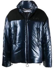 Off-White Arrows motif puffer jacket - Blue