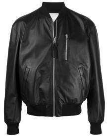 Bottega Veneta leather bomber jacket - Black