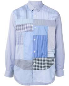 Junya Watanabe MAN patchwork dress shirt - Blue