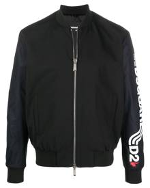Dsquared2 logo-print bomber jacket - Black