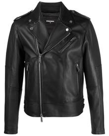 Dsquared2 leather biker jacket - Black