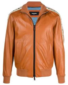 Dsquared2 bomber leather jacket - Brown