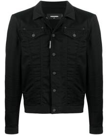 Dsquared2 logo-print denim jacket - Black