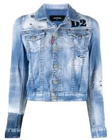 Dsquared2 logo-patch denim jacket - Blue