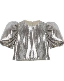 Carolina Herrera sequin-embellished crop top - Silver