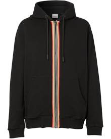 Burberry Icon Stripe zip-up hoodie - Black