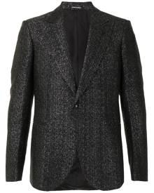 Emporio Armani metallic-threading single-breasted blazer - Blue