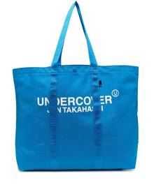 Undercover large logo tote bag - Blue