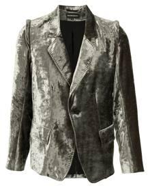 Ann Demeulemeester tailored velvet blazer - Green