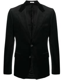 Alexander McQueen velvet single-breasted blazer - Black